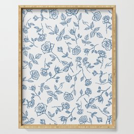 Roses are Bleue Serving Tray
