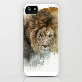 Expressions Lion iPhone Case