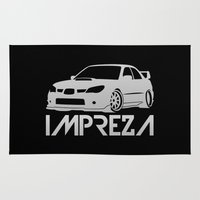 subaru Area & Throw Rugs featuring Subaru Impreza 2006 - silver - by Vehicle