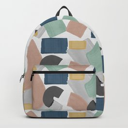 Pastel Paint Blocks, Pastel Wall Art Backpack