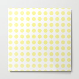 Simply Polka Dots in Pastel Yellow Metal Print
