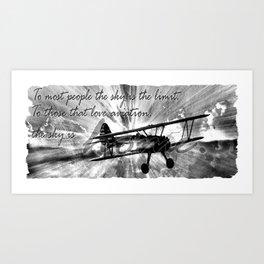 The Sky is Home Art Print