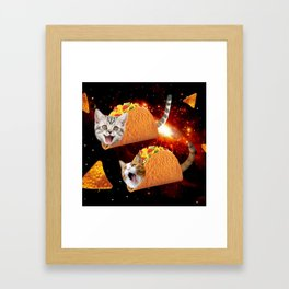Taco Cats Space Framed Art Print