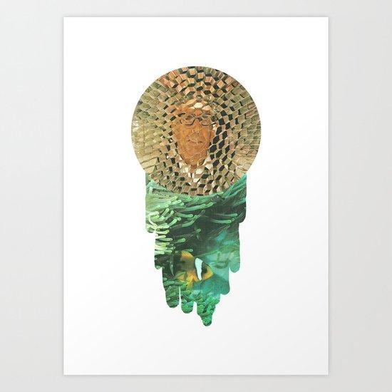 Honeycomb View Art Print