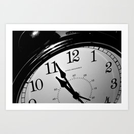 On a Clock that Tells the Time Art Print