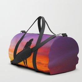 SUNRISE - SUNSET - WOMAN - BLACK - PHOTOGRAPHY Duffle Bag