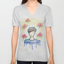 Phil Lester - Flowers Unisex V-Neck