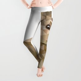 Rabbit Bunny  Geometric animal art Leggings