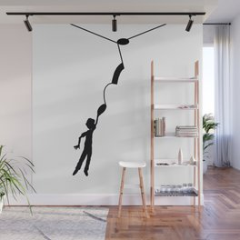 Hooked on the music note Wall Mural