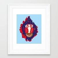 gorilla Framed Art Prints featuring Gorilla by echo3005