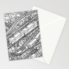 The Town of Train 3 Stationery Cards