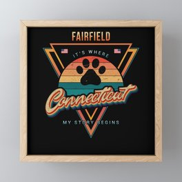 Fairfield Connecticut Framed Mini Art Print