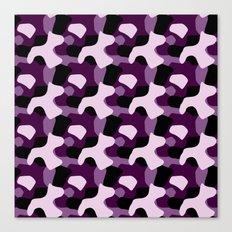 Purple Camo Pattern Canvas Print