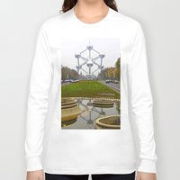 brussels Long Sleeve T-shirts featuring Atomium Brussels Painted Photography by Premium