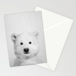 Polar Bear - Black & White Stationery Cards
