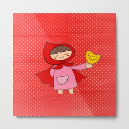 Little Riding Hood Metal Print