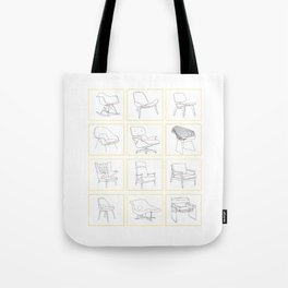 Mid Century Chairs Tote Bag