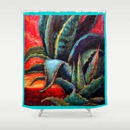 Southwest-western Style Desert Agave in Sunrise Shower Curtain