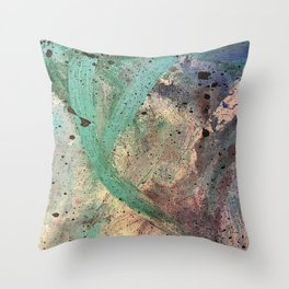 Sea Side Splatter Throw Pillow