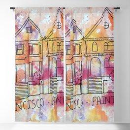 San Francisco Painted Ladies Blackout Curtain