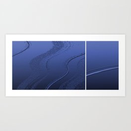 Abstract diptych Blue Art Print