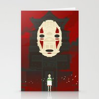spirited away Stationery Cards featuring Spirited by Danny Haas