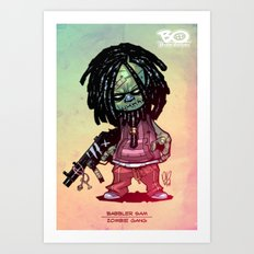 Z gang - Babbler Sam - Villains of G universe  Art Print