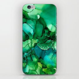 Into the Depths of Sea Green Mysteries iPhone Skin