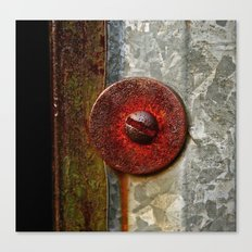 Rusted Washer Canvas Print