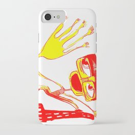 give me 5 in blue iPhone Case