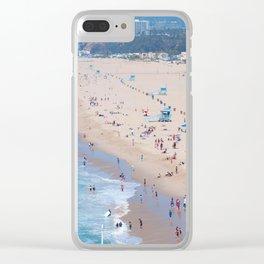 Santa Monica Beach I Clear iPhone Case