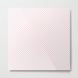 Blushing Bride Polka Dots Metal Print