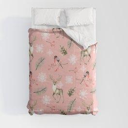 Xmas Pattern Pink #socieyt6 #buyart Comforters
