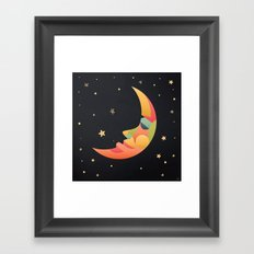 Imaginative Moon Framed Art Print