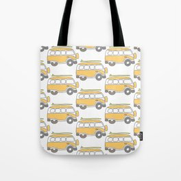 The Surf Life | Yellow Adventure Bus Tote Bag