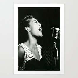 Billie Holiday lady sings the blues canvas poster Classic Canvas Poster Bedroom art unframe Art Print