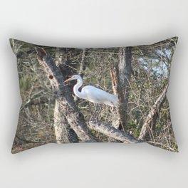 Egret Rectangular Pillow