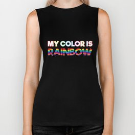 My Color Is Rainbow Biker Tank