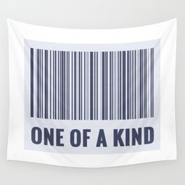 One of a kind - barcode quote Wall Tapestry