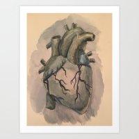 The Anatomy of a Dark Heart  Art Print