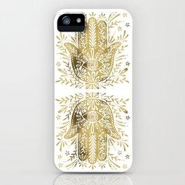 Hamsa Hand – Gold Palette iPhone Case