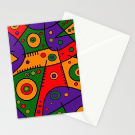 Abstract #240 Pizza Party Stationery Cards