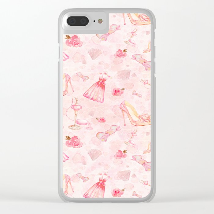 Pink dresses fashion #6 Clear iPhone Case