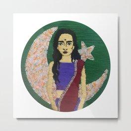 """Pakistan"" Embroidery Metal Print"