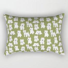 Westies on Moss Rectangular Pillow