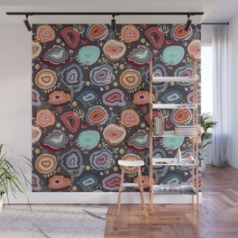 Colorful agates Wall Mural