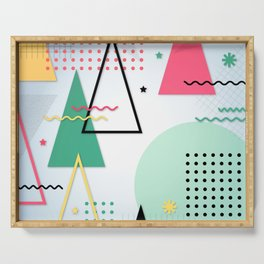 Abstract Christmas Serving Tray