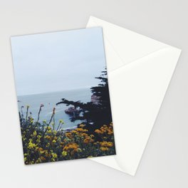 Floral Coast at Dusk Stationery Cards
