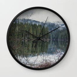 Fish Lake on a Spring Evening Wall Clock