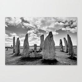 Stone Circle Callanish Stones Canvas Print